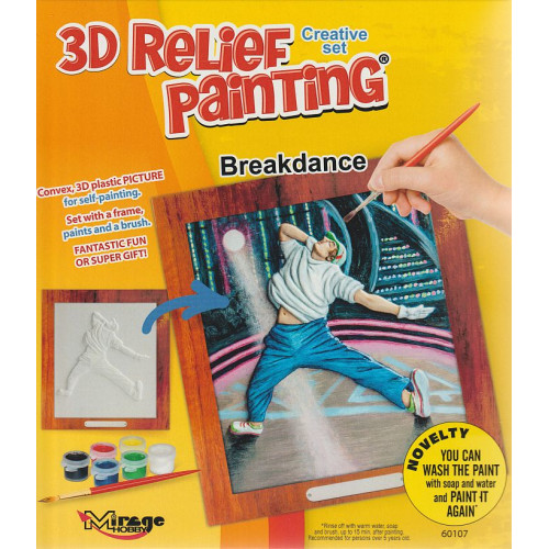 3D reliéf Breakdance