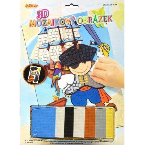3D mozaika Pirát