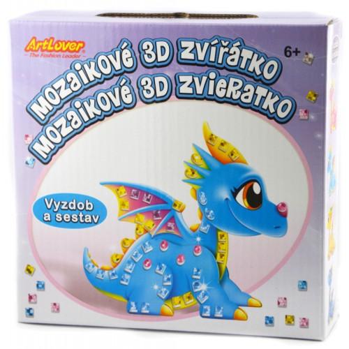 Mozaikový 3D drak
