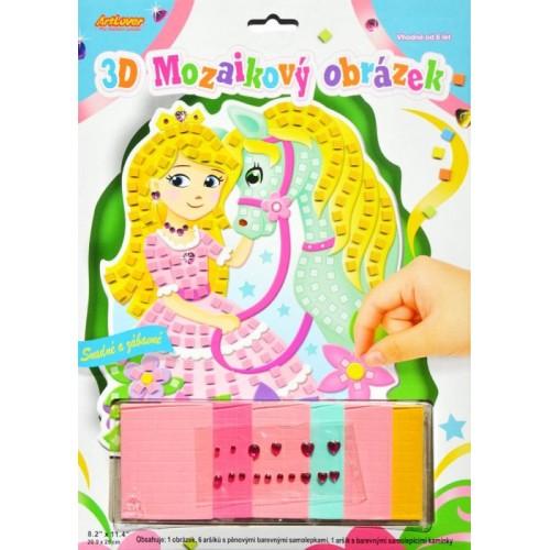 3D Princezná s koníkom
