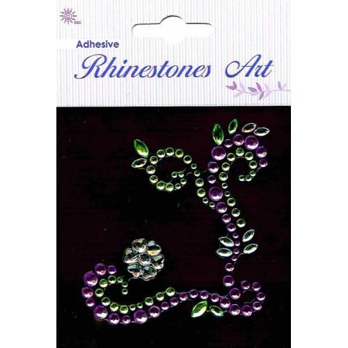 Kamienková dekorácia - fialová