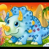 Mini mozaika - dino1