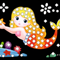 Mini trblietavá mozaika - víla5
