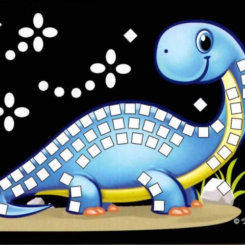 Mini trblietavá mozaika - dino6