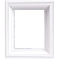Plastový rám svietivo biely