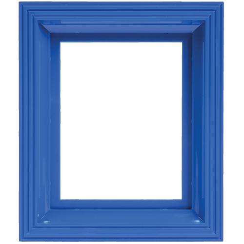 Plastový rám svietivo modrý