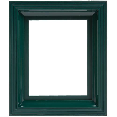 Plastový rám tmavo zelený