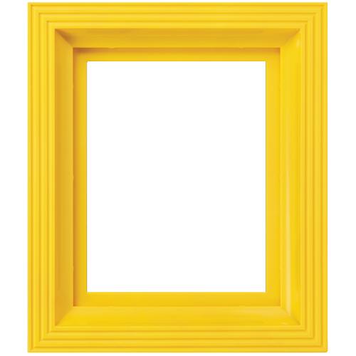 Plastový rám svietivo žltý