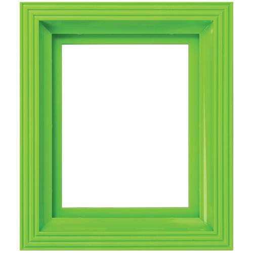 Plastový rám jasne zelený