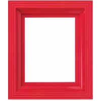Plastový rám jasne červený