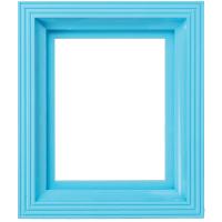 Plastový rám bledo modrý