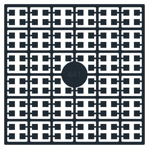 441 pixel štvorec čierna